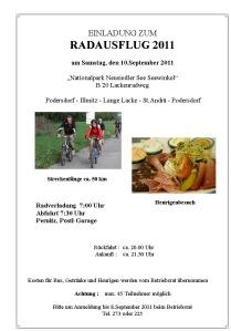 Einladung Radausflug 2011
